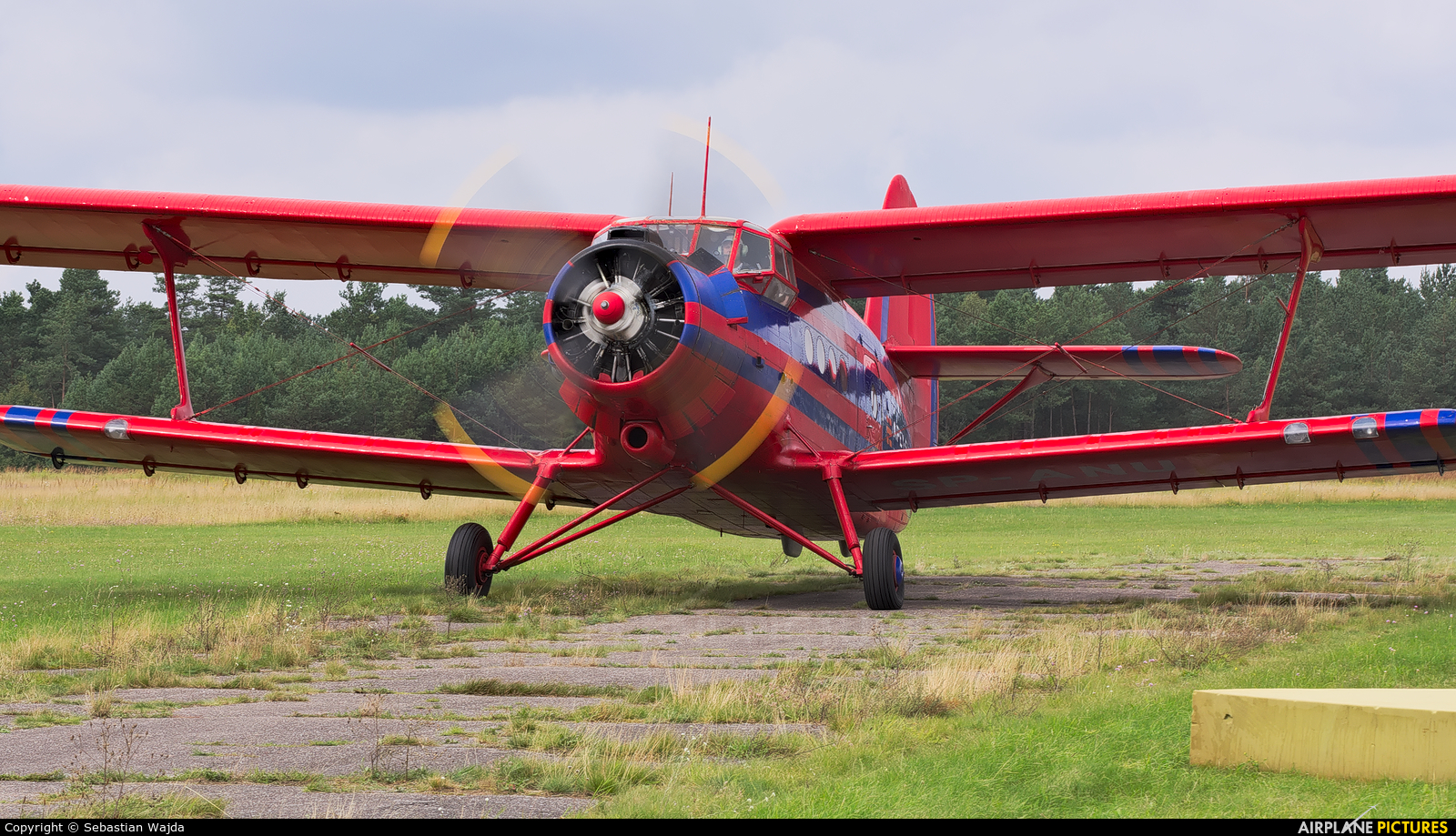Aeroklub Ziemi Mazowieckiej SP-ANU aircraft at Borne Sulinowo