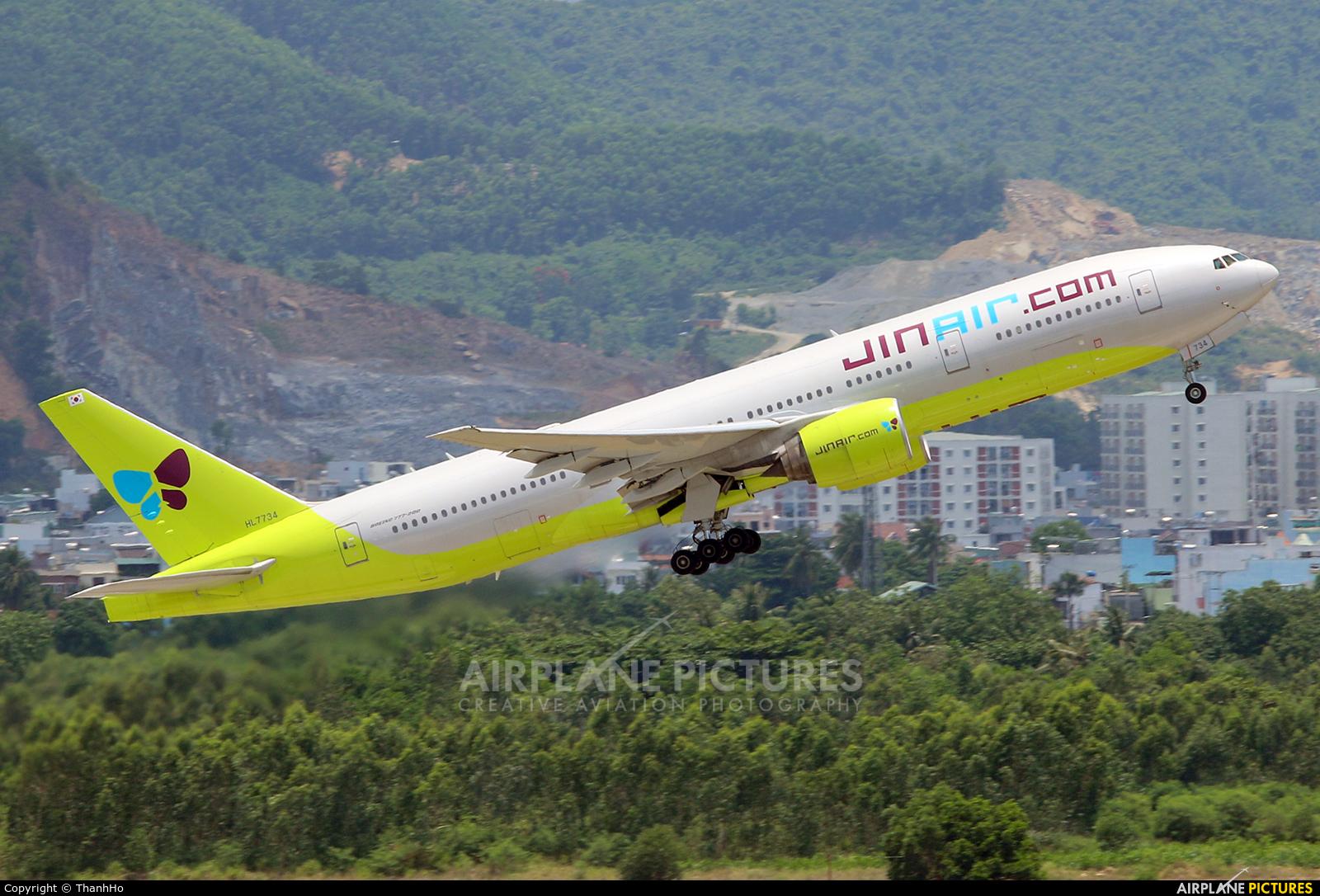 Jin Air HL7734 aircraft at Da Nang