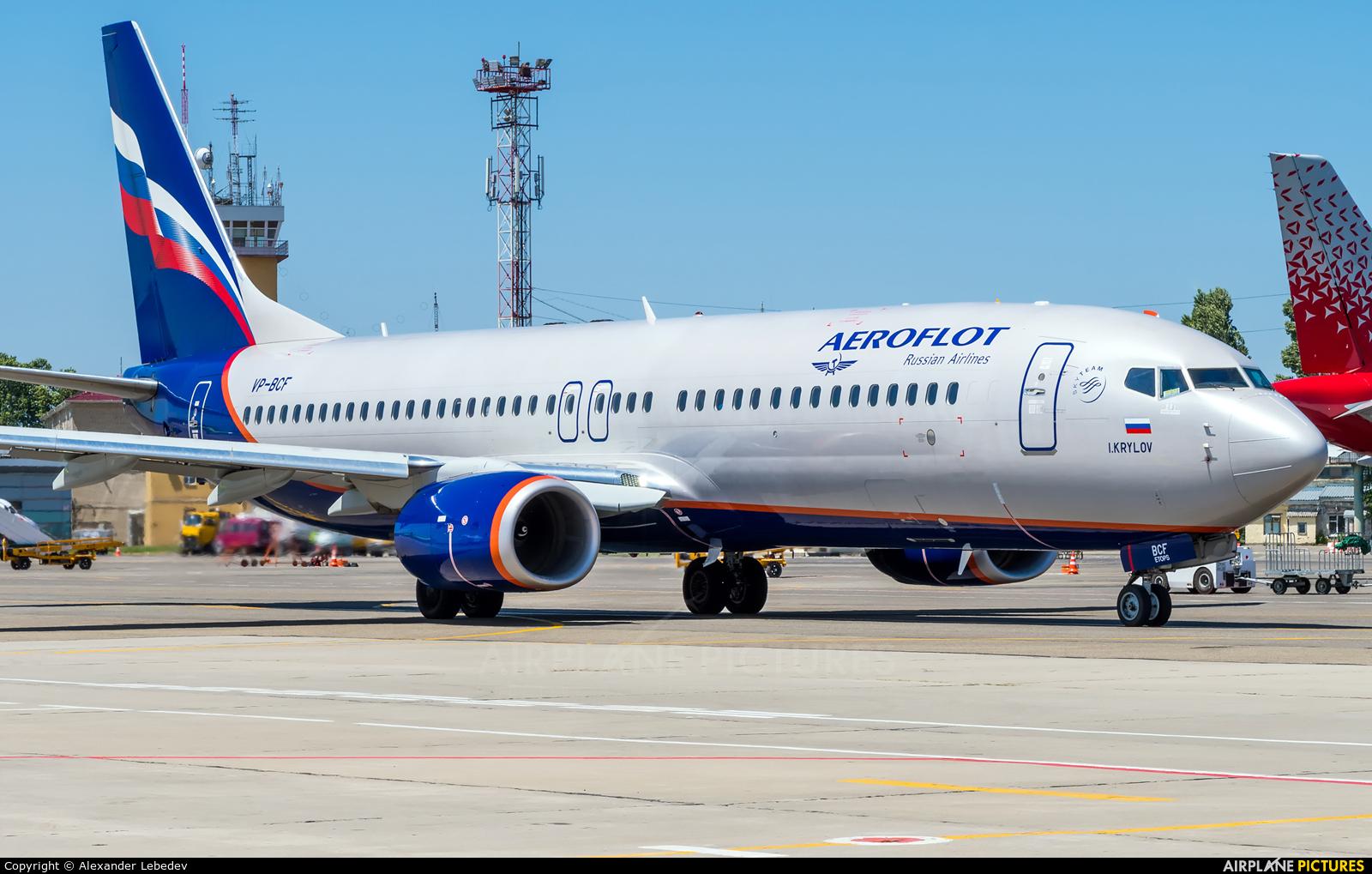 Aeroflot VP-BCF aircraft at Krasnodar