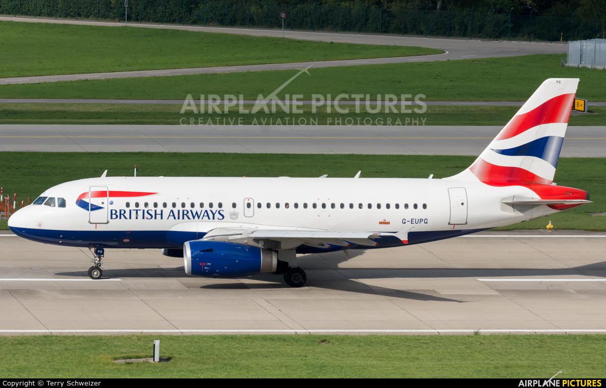 British Airways G-EUPG aircraft at Zurich