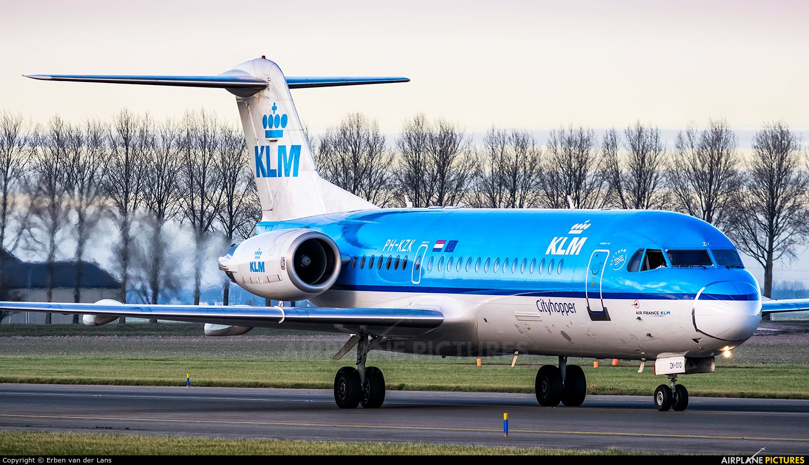 KLM Cityhopper PH-KZK aircraft at Amsterdam - Schiphol