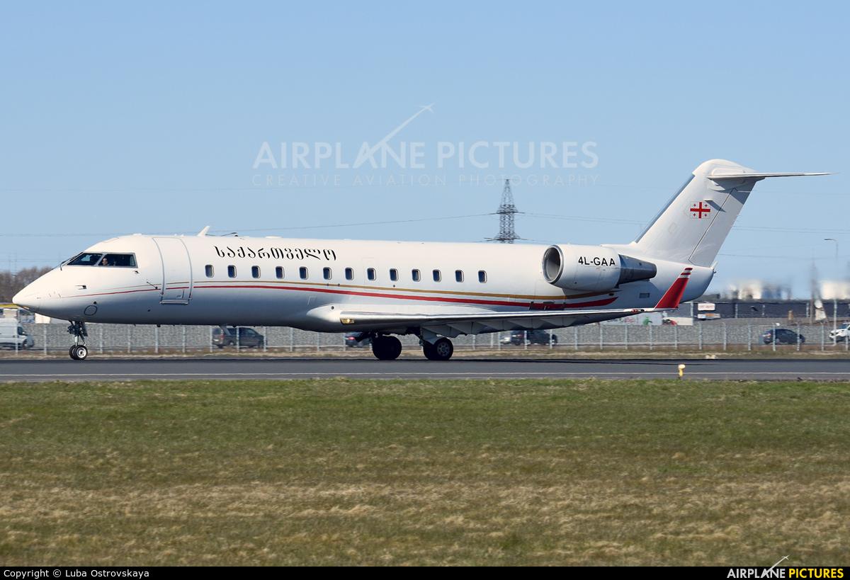 Georgia - Government 4L-GAA aircraft at Tallinn