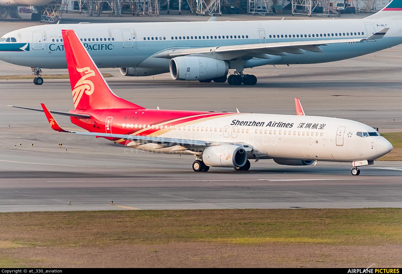 Shenzhen Airlines B-1710 aircraft at HKG - Chek Lap Kok Intl