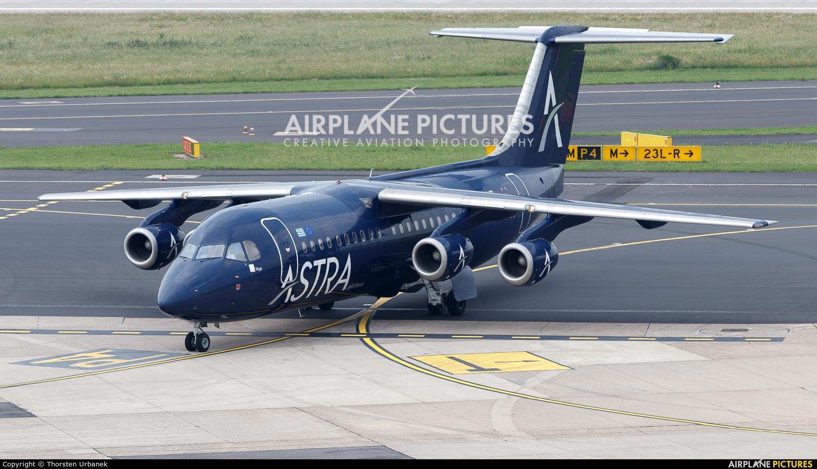Astra Airlines SX-DIZ aircraft at Düsseldorf
