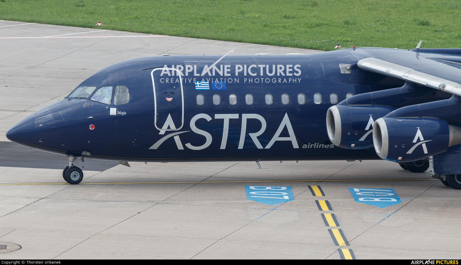 Astra Airlines SX-DIZ aircraft at Düsseldorf