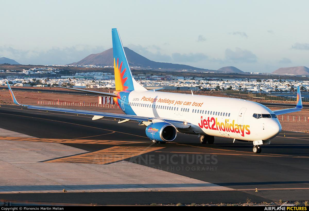 Jet2 G-DRTA aircraft at Lanzarote - Arrecife