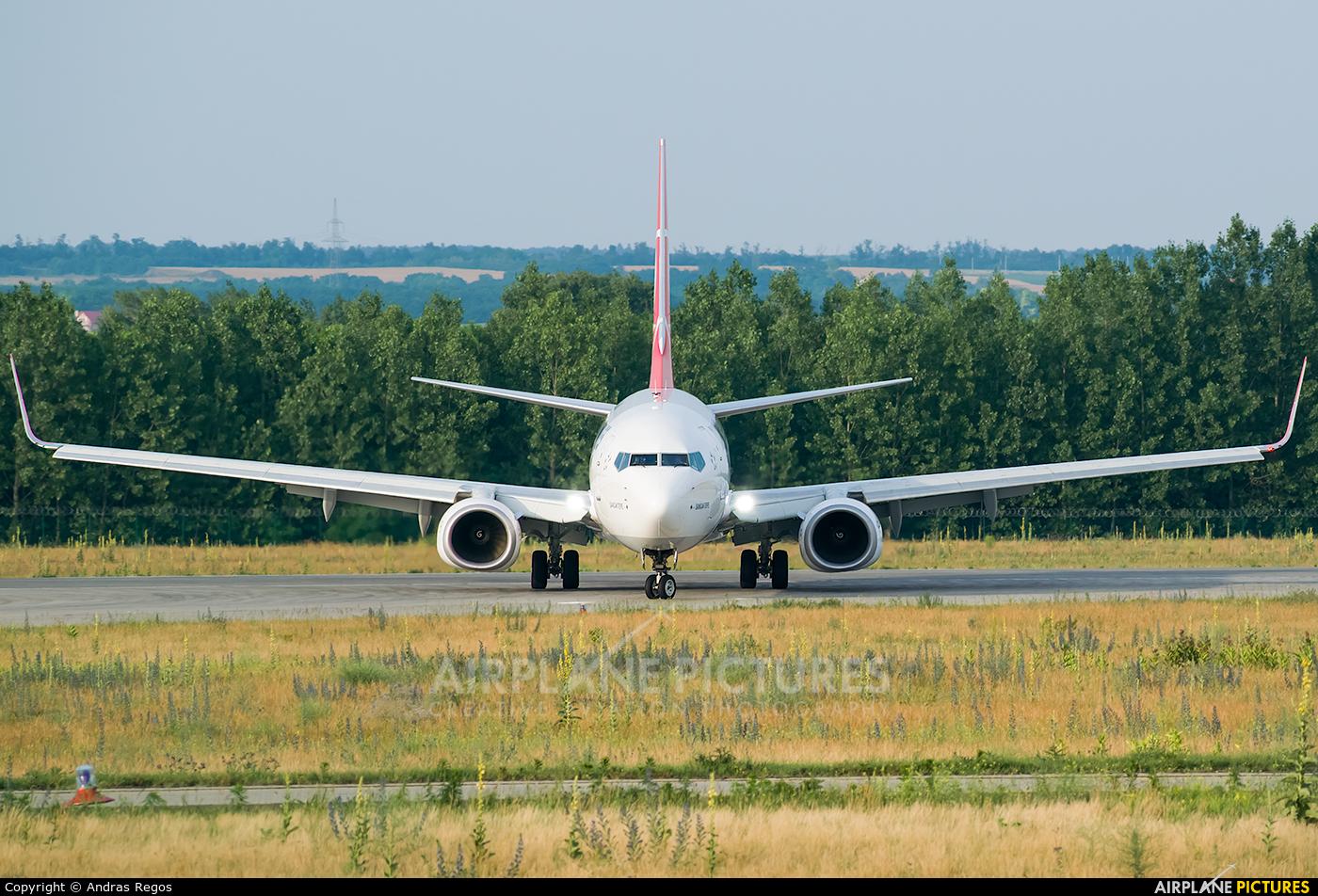 Turkish Airlines TC-JVU aircraft at Budapest Ferenc Liszt International Airport