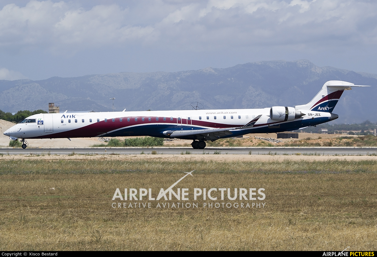 Arik Air 5N-JEE aircraft at Palma de Mallorca