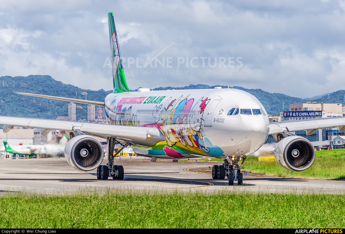 Eva Air B-16332 aircraft at Taipei - Sung Shan