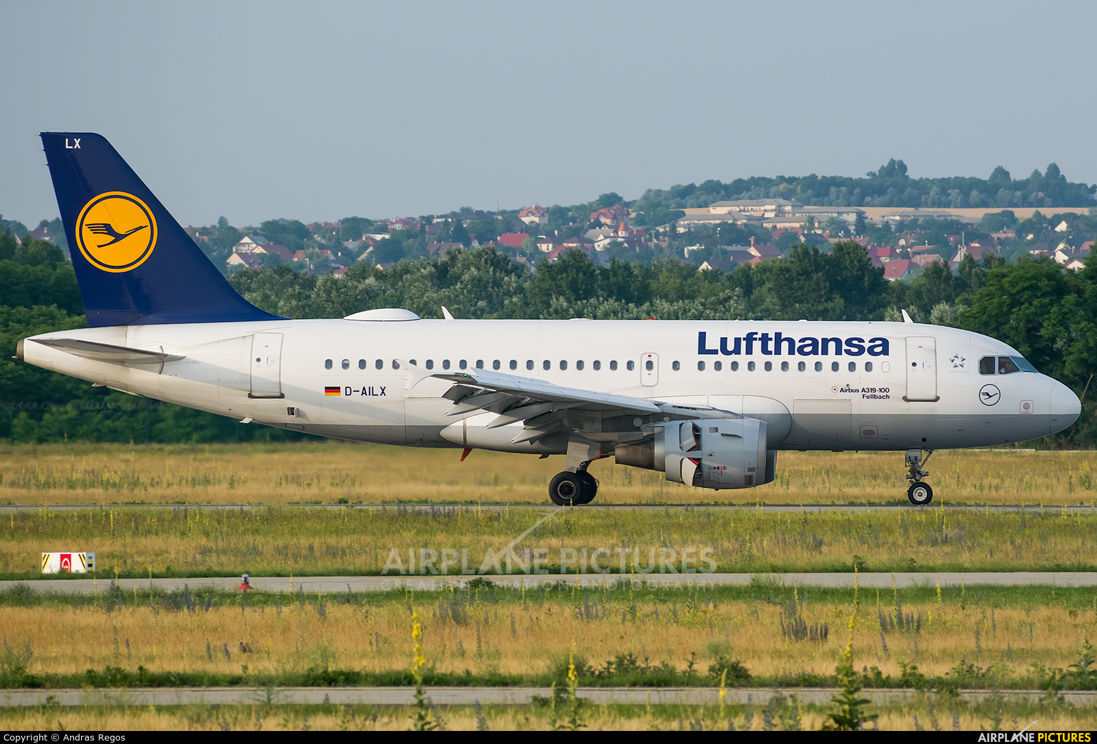 Lufthansa D-AILX aircraft at Budapest Ferenc Liszt International Airport