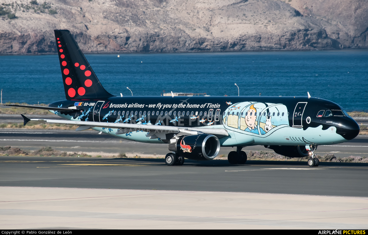 Brussels Airlines OO-SNB aircraft at Aeropuerto de Gran Canaria