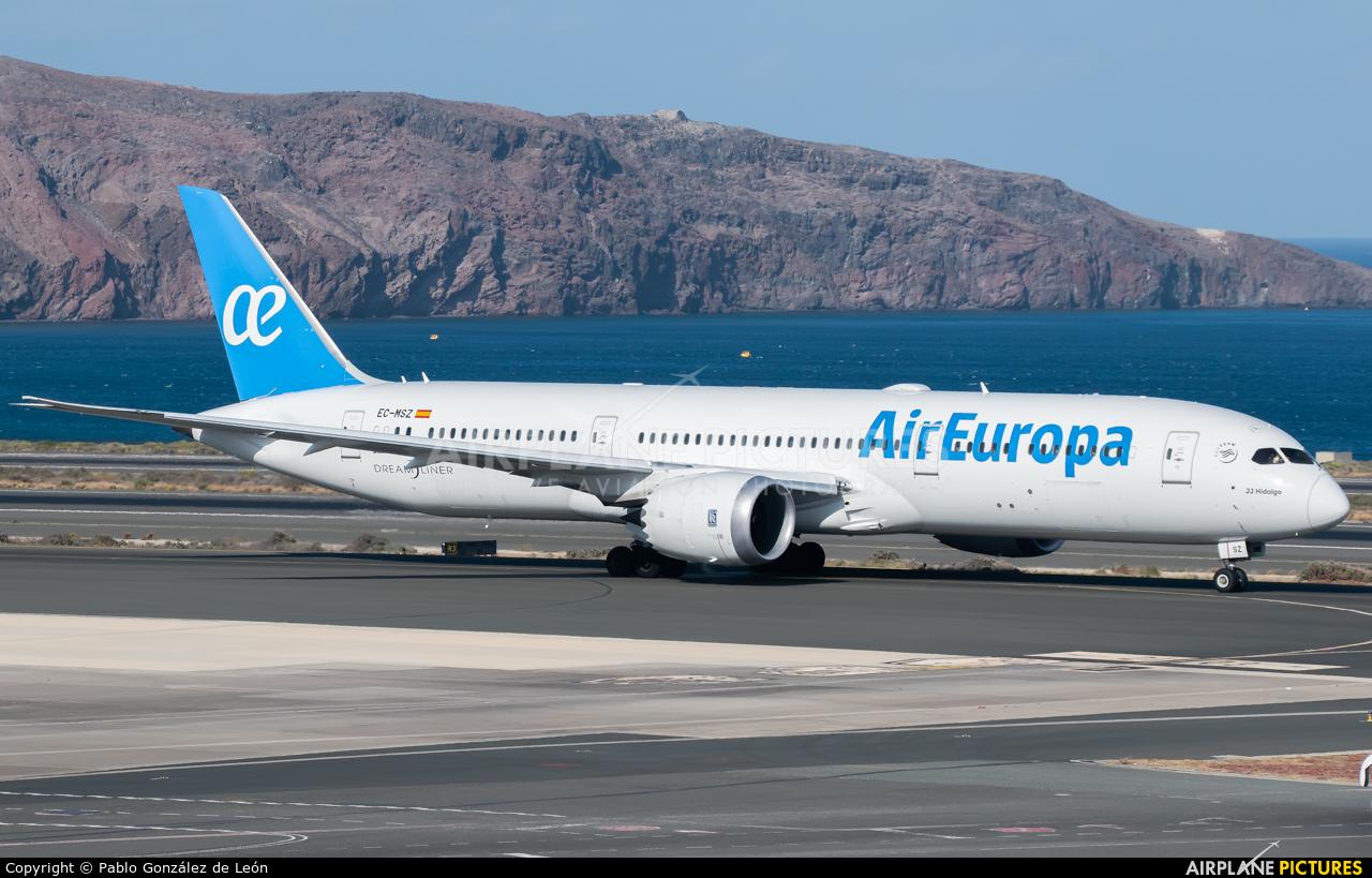 Air Europa EC-MSZ aircraft at Aeropuerto de Gran Canaria