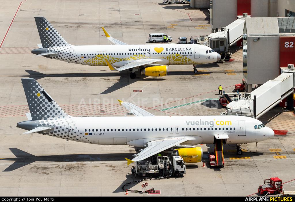 Vueling Airlines EC-JYX aircraft at Palma de Mallorca