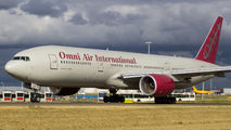 Rare visit of Omni Air International B772 to Amsterdam title=