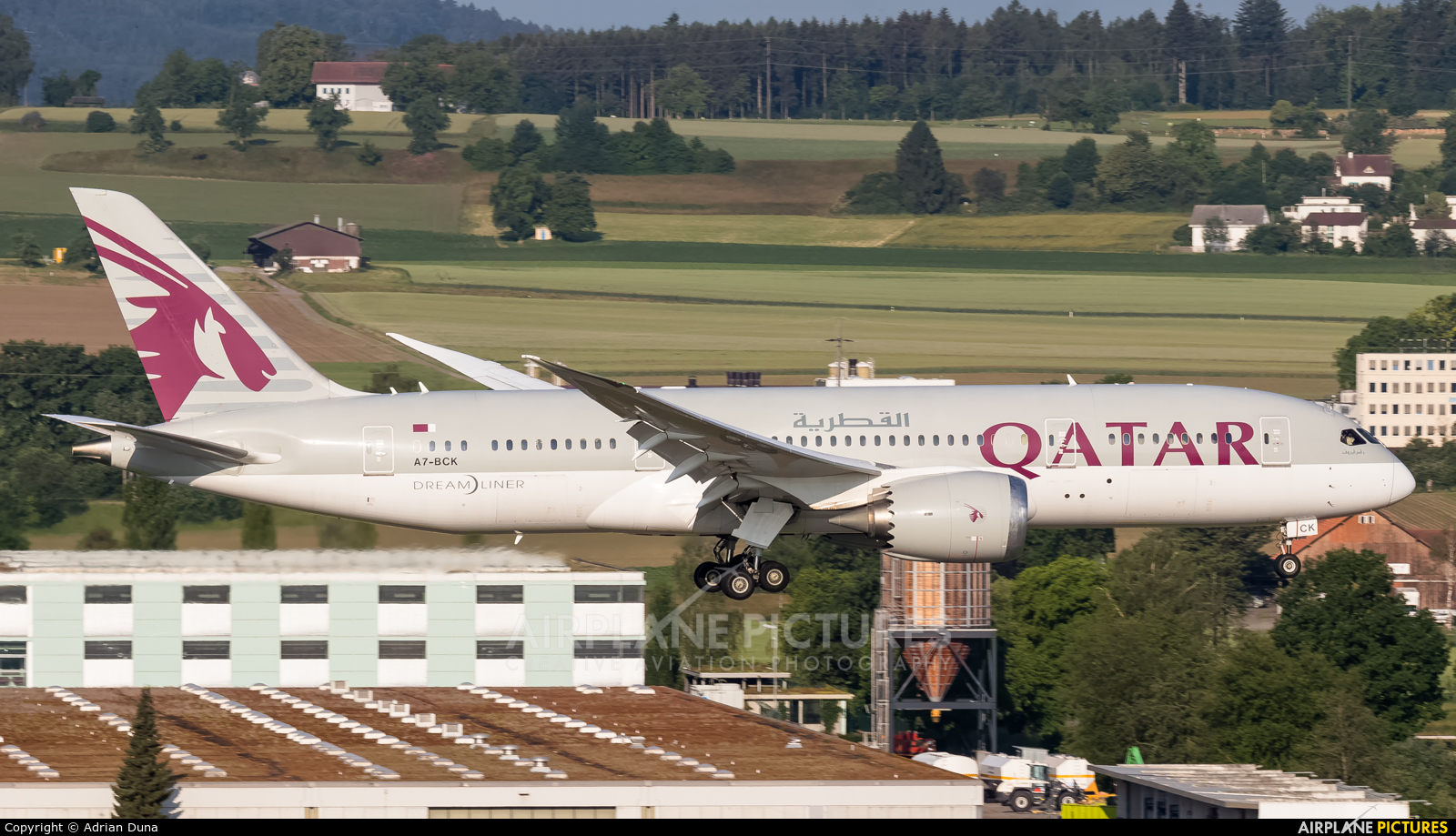 Qatar Airways A7-BCK aircraft at Zurich