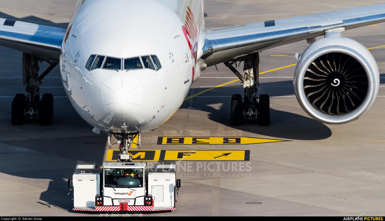 Swiss HB-JND aircraft at Zurich
