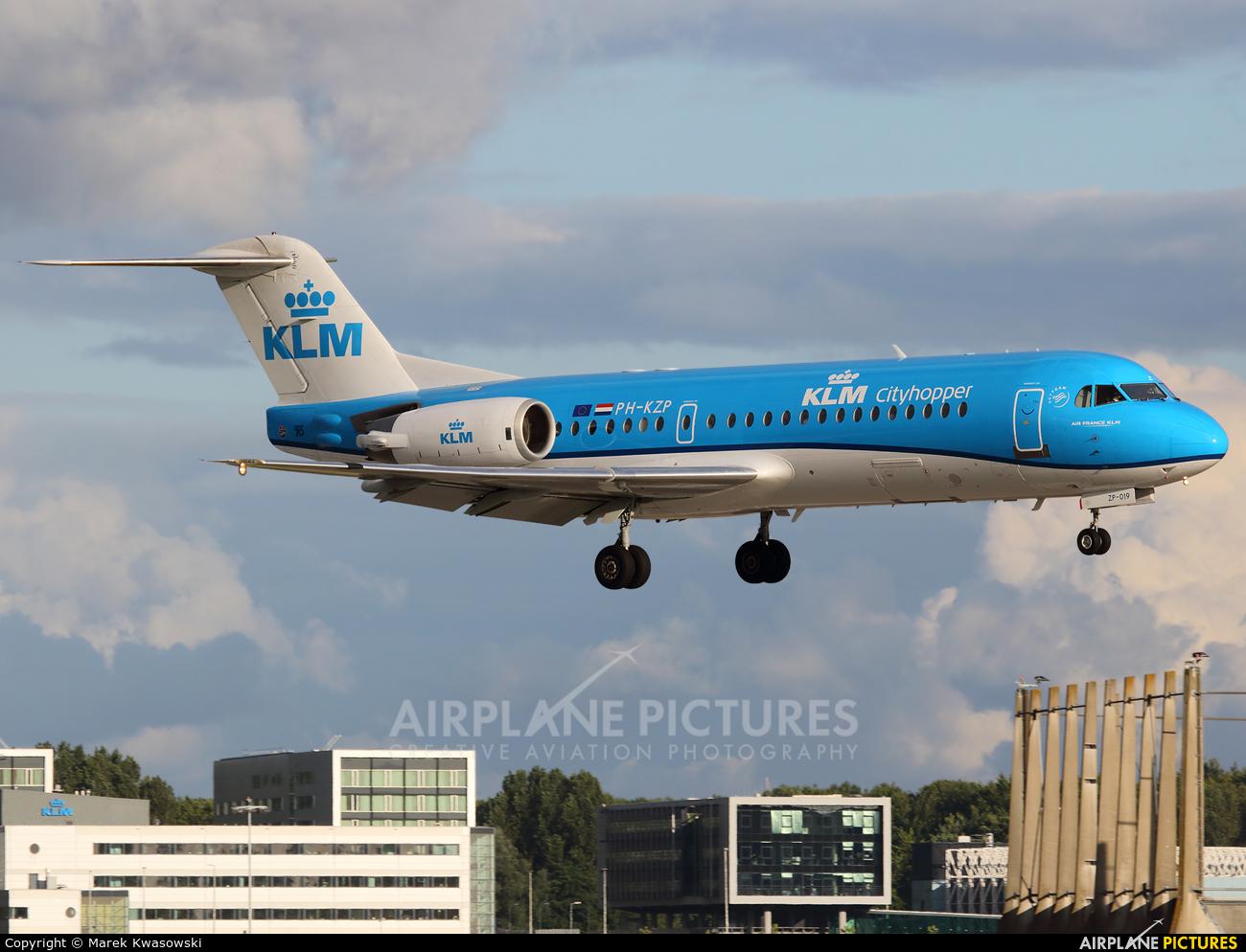 KLM Cityhopper PH-KZP aircraft at Amsterdam - Schiphol