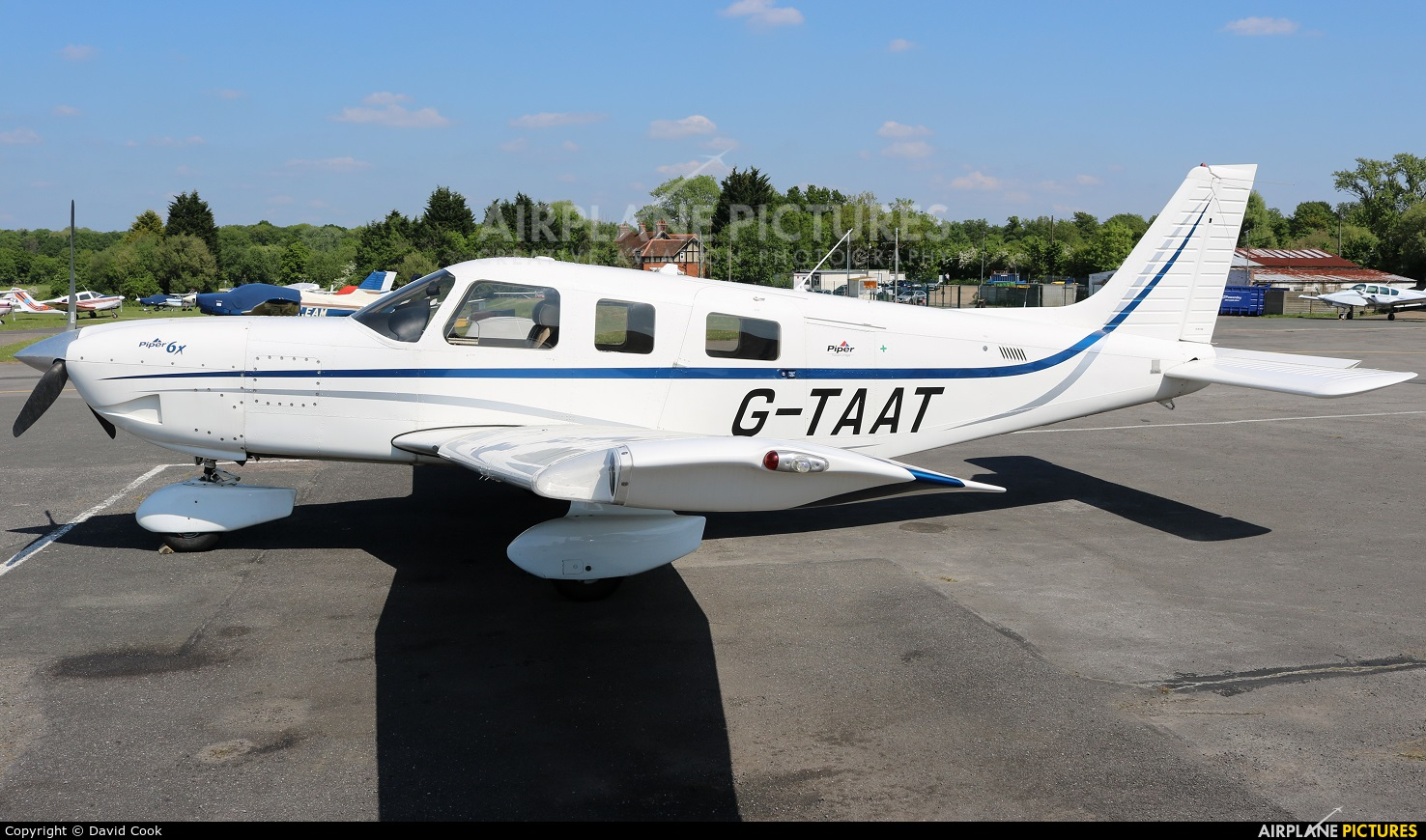 Private G-TAAT aircraft at Elstree