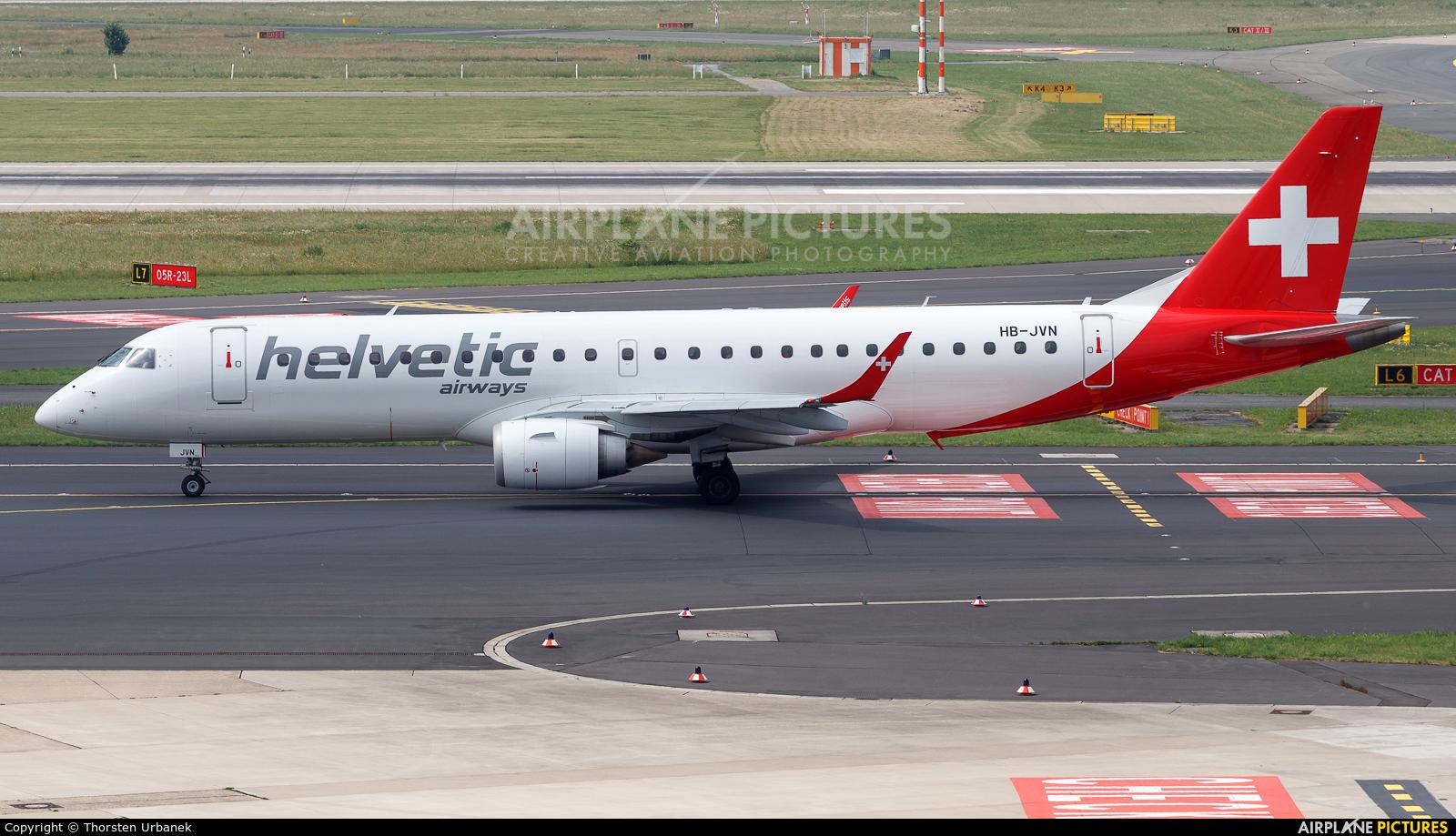 Helvetic Airways HB-JVN aircraft at Düsseldorf