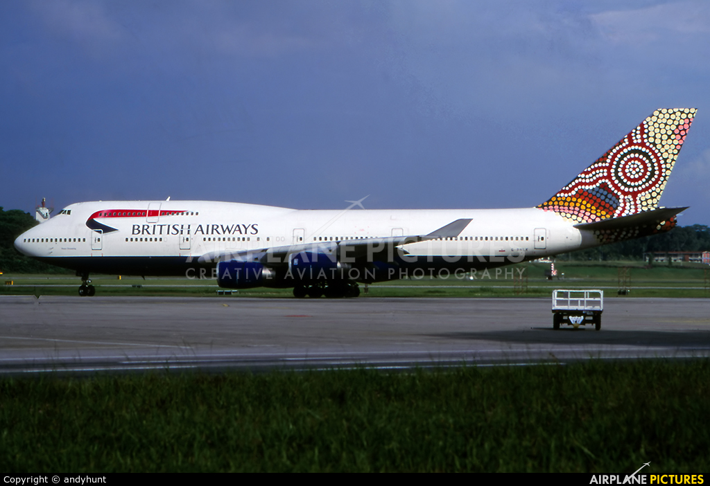 British Airways G-BNLK aircraft at Singapore - Changi
