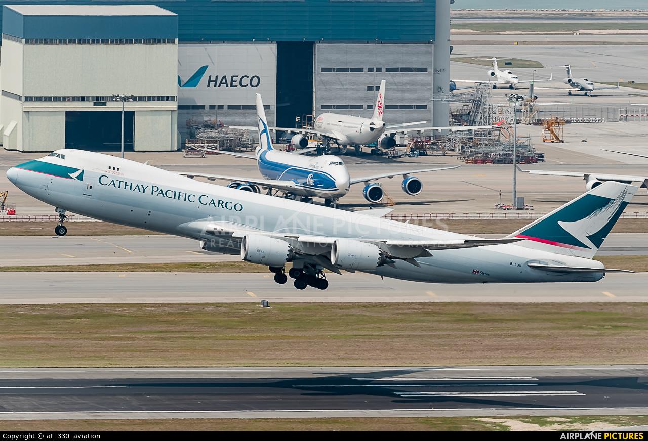 Cathay Pacific Cargo B-LJM aircraft at HKG - Chek Lap Kok Intl