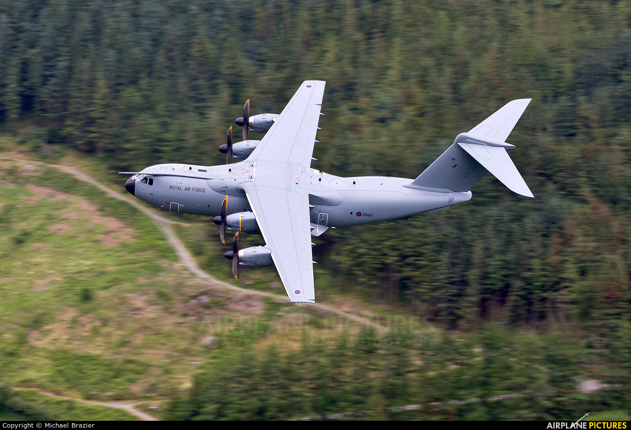 Royal Air Force ZM417 aircraft at Machynlleth Loop - LFA 7