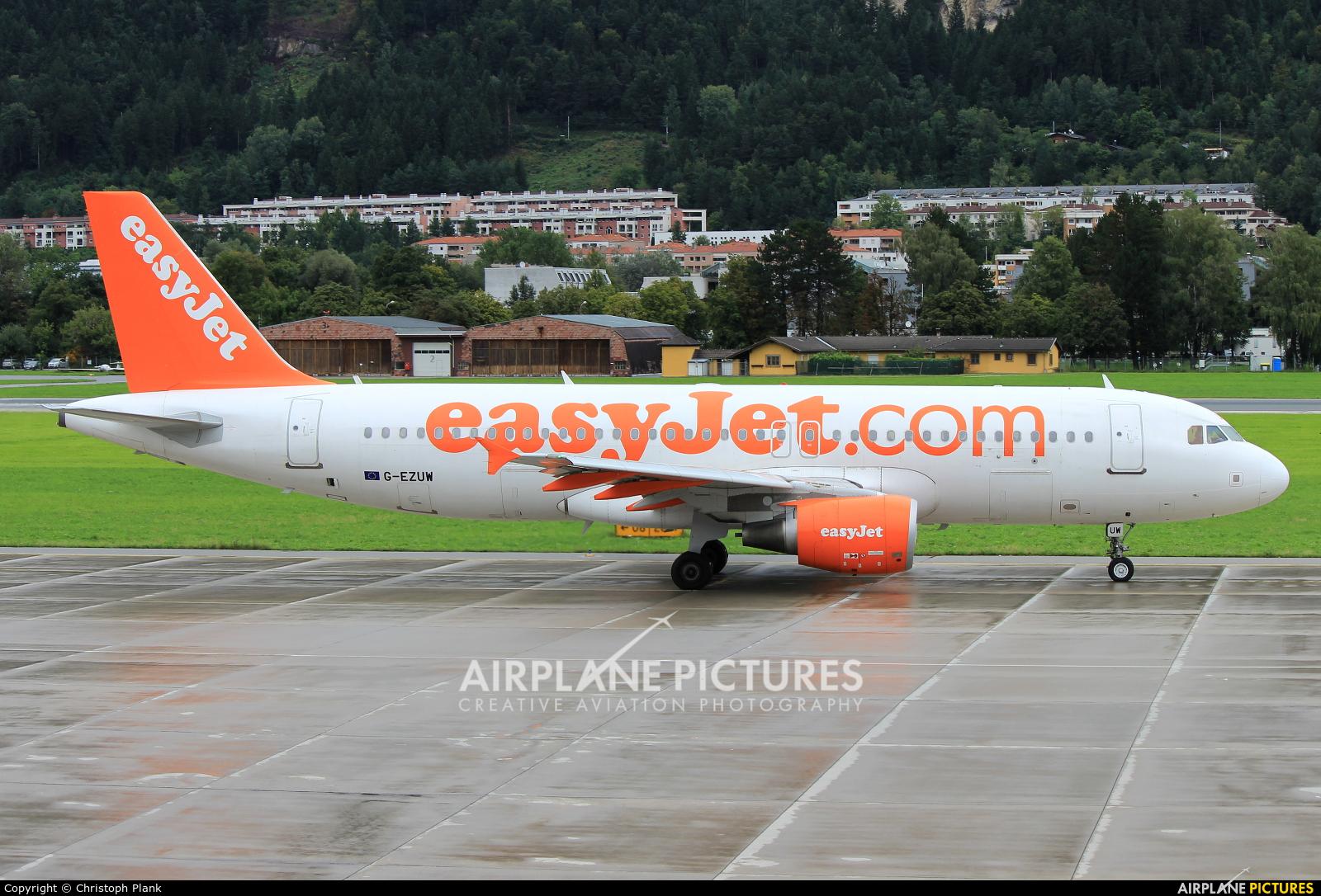 easyJet G-EZUW aircraft at Innsbruck