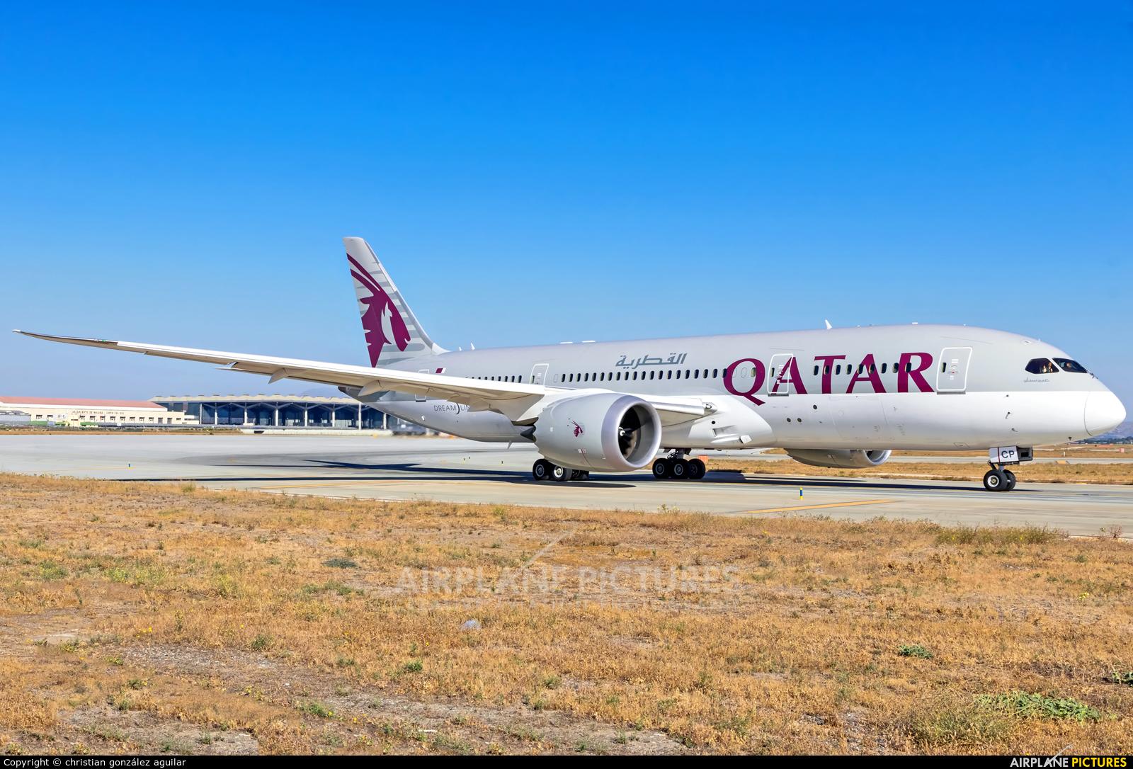 Qatar Airways A7-BCP aircraft at Málaga