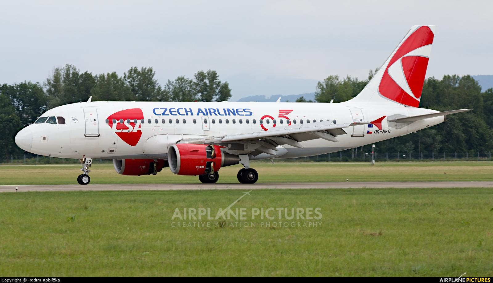 CSA - Czech Airlines OK-NEO aircraft at Ostrava Mošnov