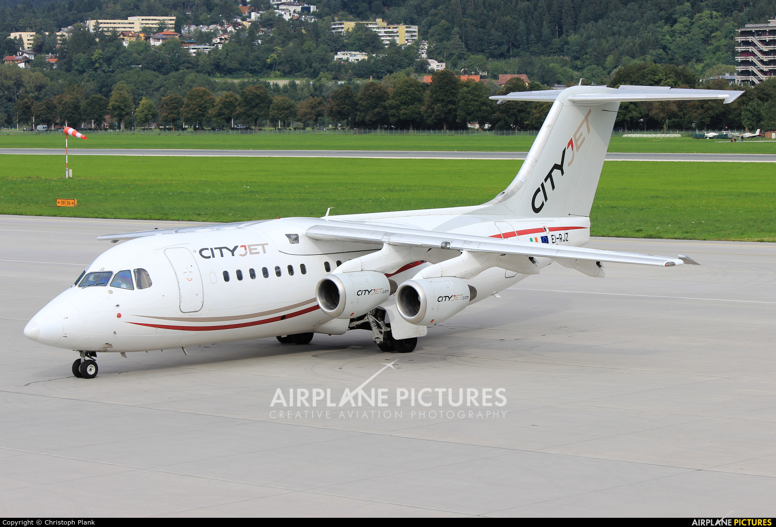 CityJet EI-RJZ aircraft at Innsbruck