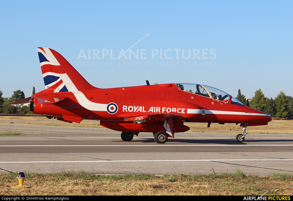 "Royal Air Force ""Red Arrows"" XX278 aircraft at Tanagra"