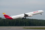 Iberia A340 brought football fans to Moscow title=
