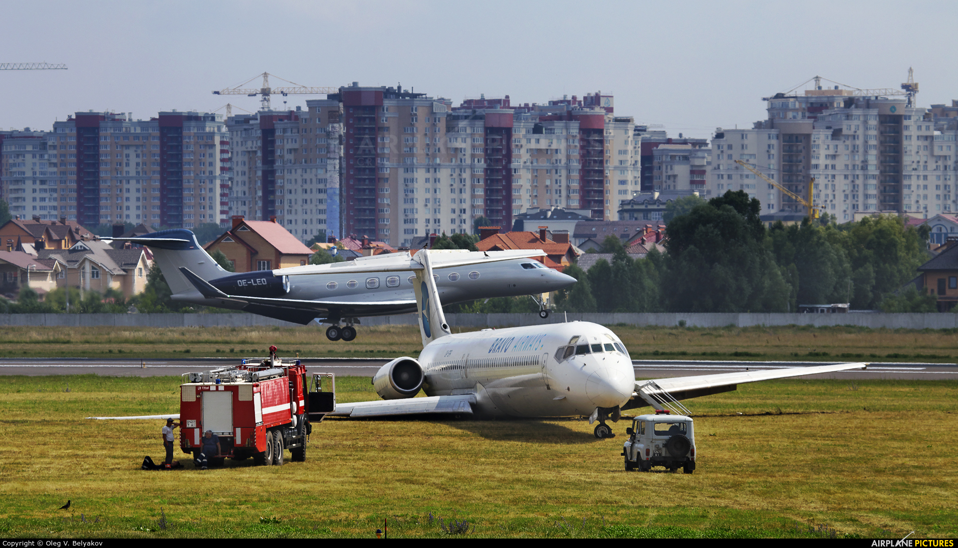 Bravo Airways UR-CPR aircraft at Kyiv - Zhulyany
