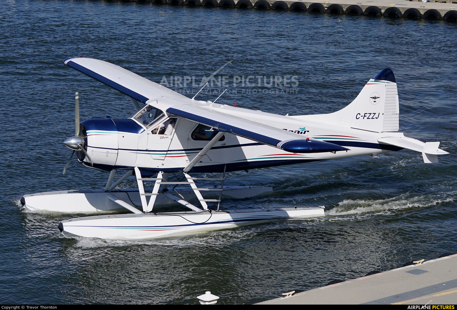 Seair Seaplanes C-FZZJ aircraft at Vancouver Coal Harbour, BC