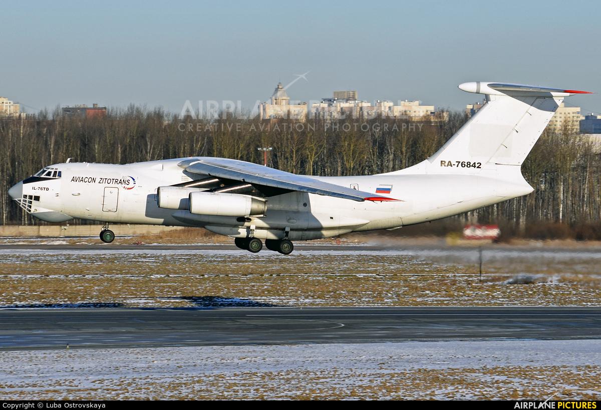 Aviacon Zitotrans RA-76842 aircraft at St. Petersburg - Pulkovo