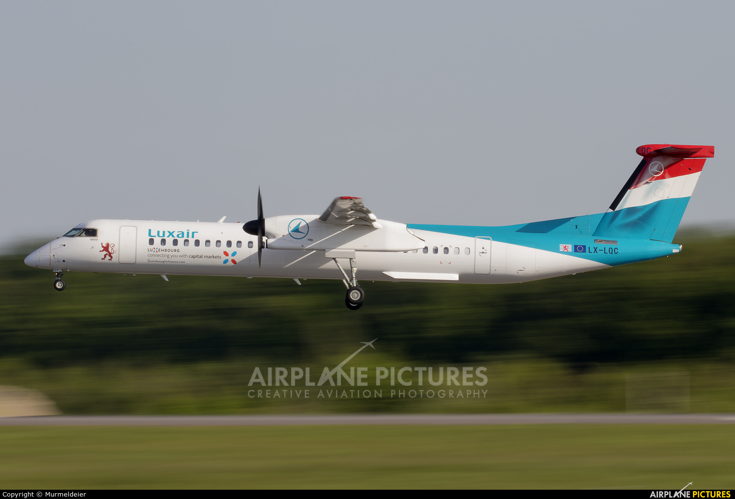 Luxair LX-LQC aircraft at Luxembourg - Findel