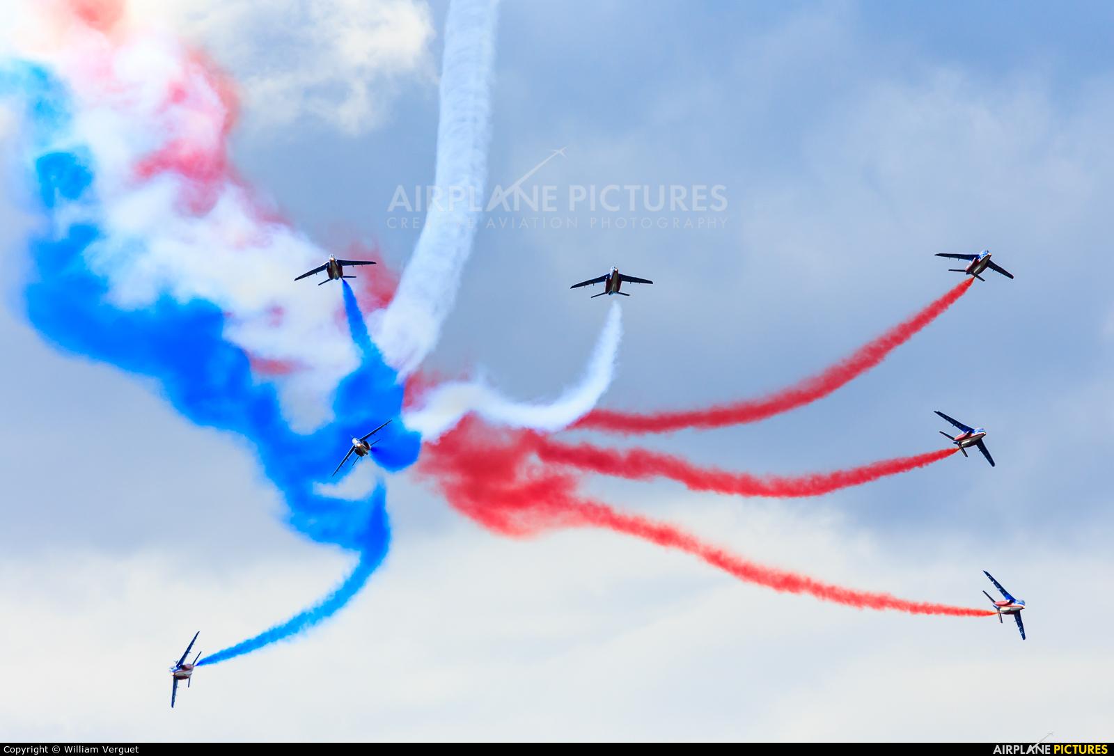 """France - Air Force """"Patrouille de France"""" - aircraft at Evreux Fauville"""