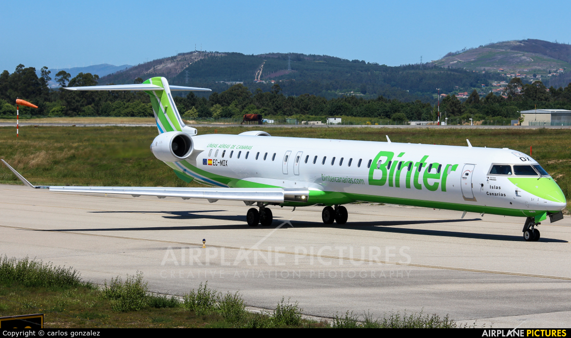 Binter Canarias EC-MOX aircraft at Vigo