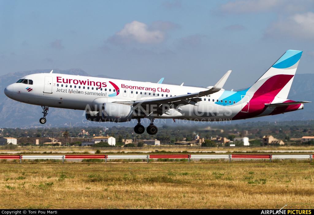 Eurowings D-AEWM aircraft at Palma de Mallorca