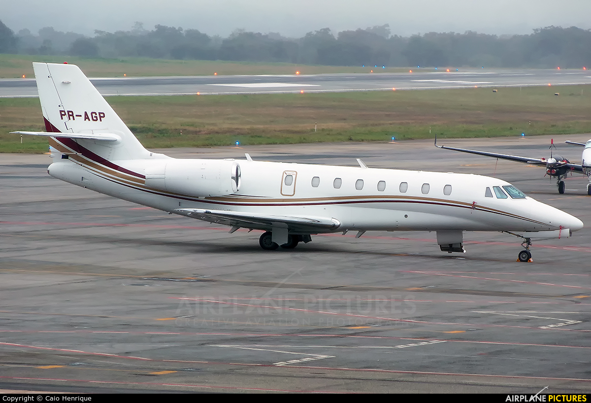 Private PR-AGP aircraft at Cuiabá - Marechal Rondon