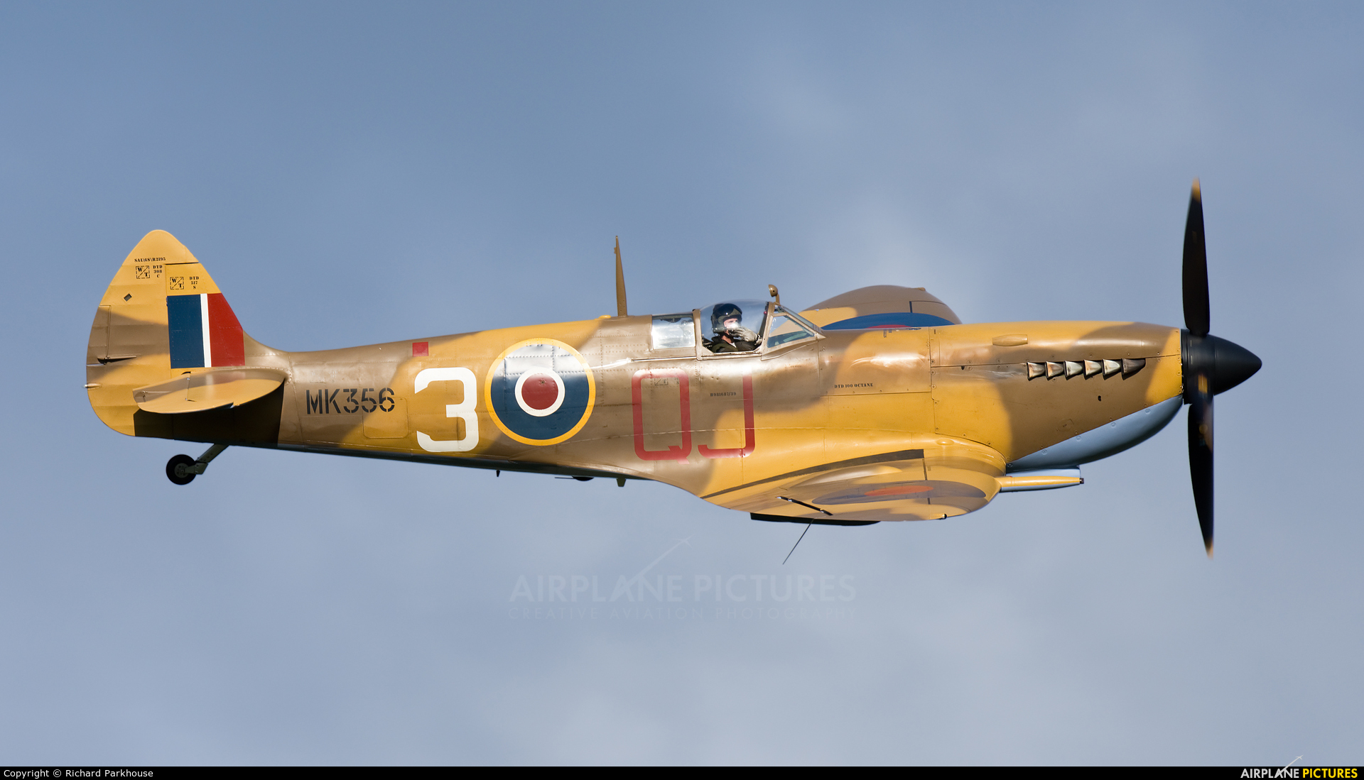 "Royal Air Force ""Battle of Britain Memorial Flight&quot MK356 aircraft at Old Warden"