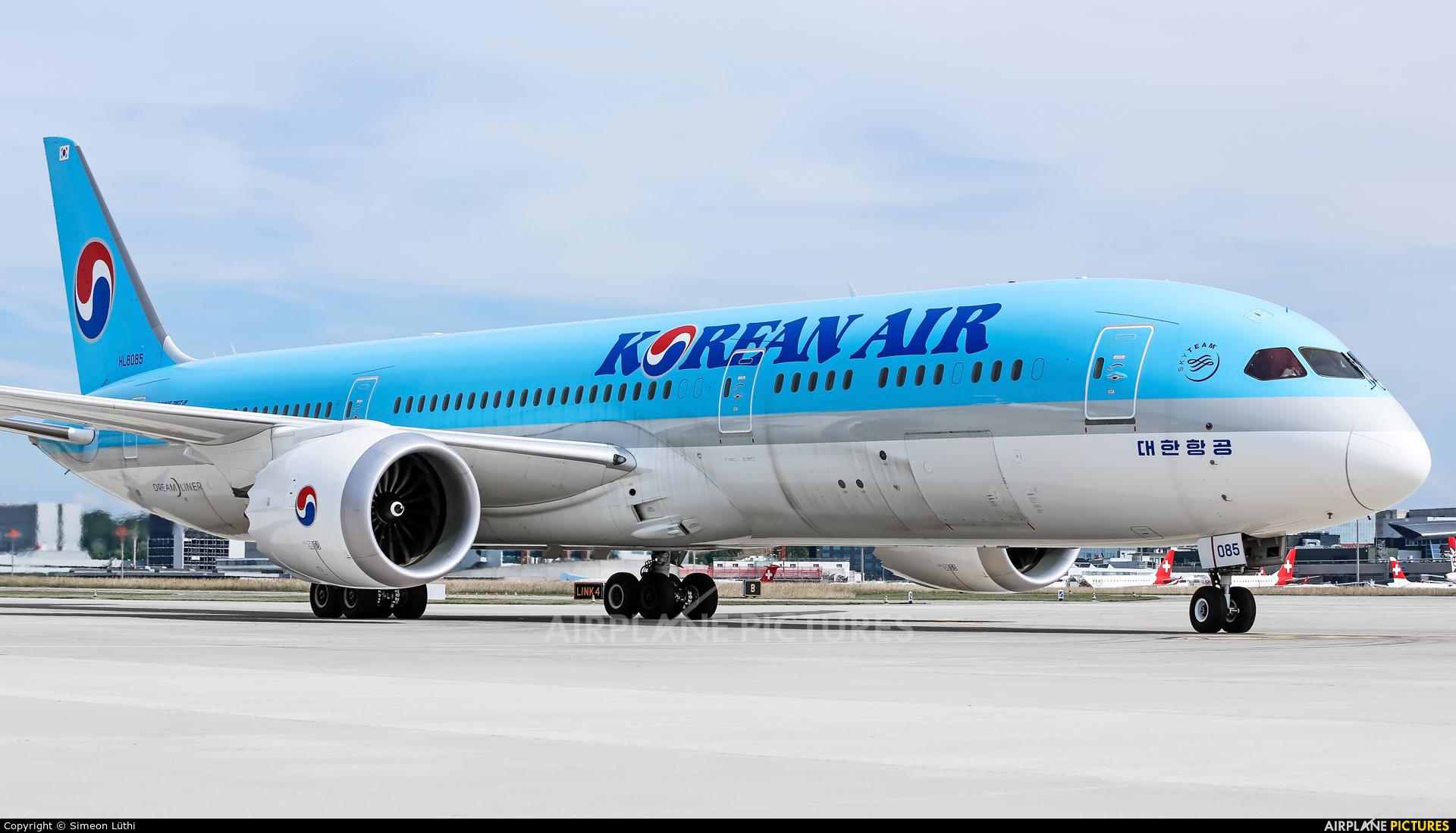 Korean Air HL8085 aircraft at Zurich