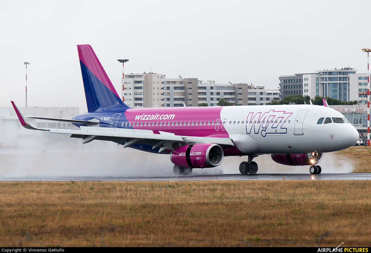 Wizz Air UK G-WUKD aircraft at Bari