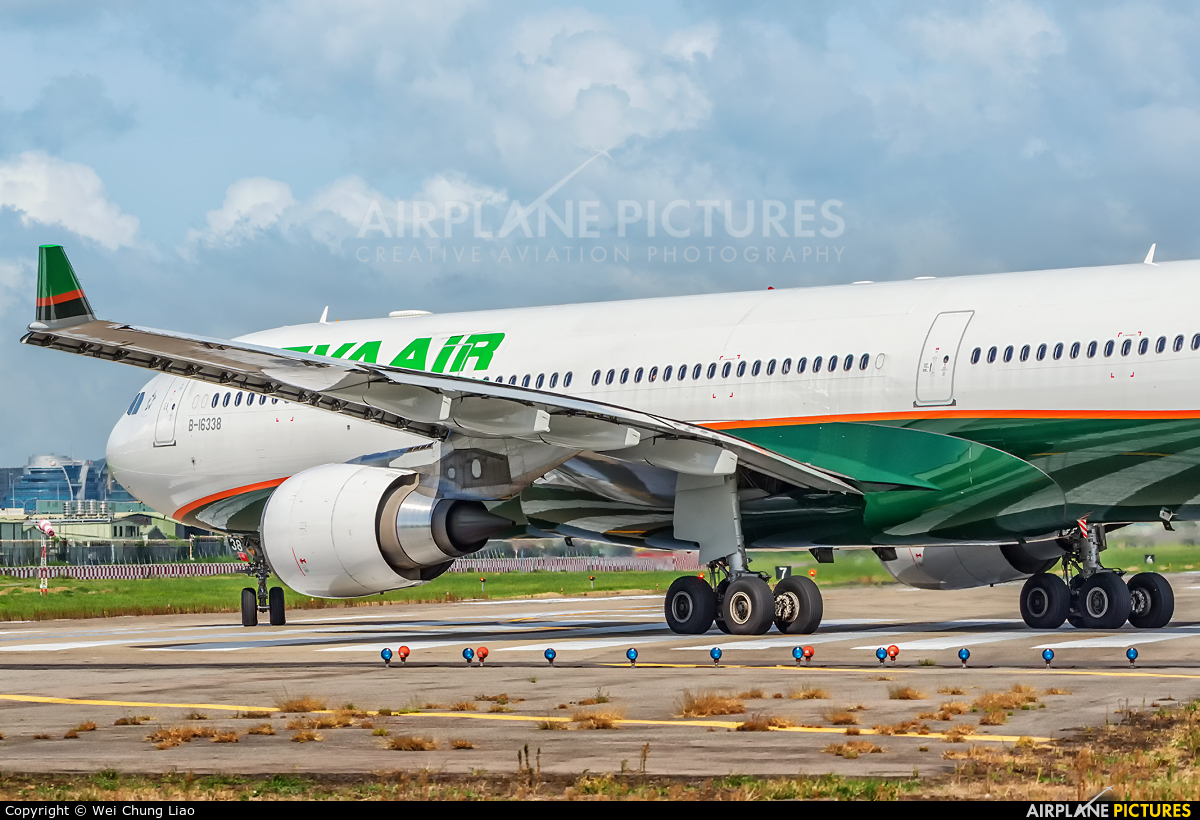 Eva Air B-16338 aircraft at Taipei - Sung Shan