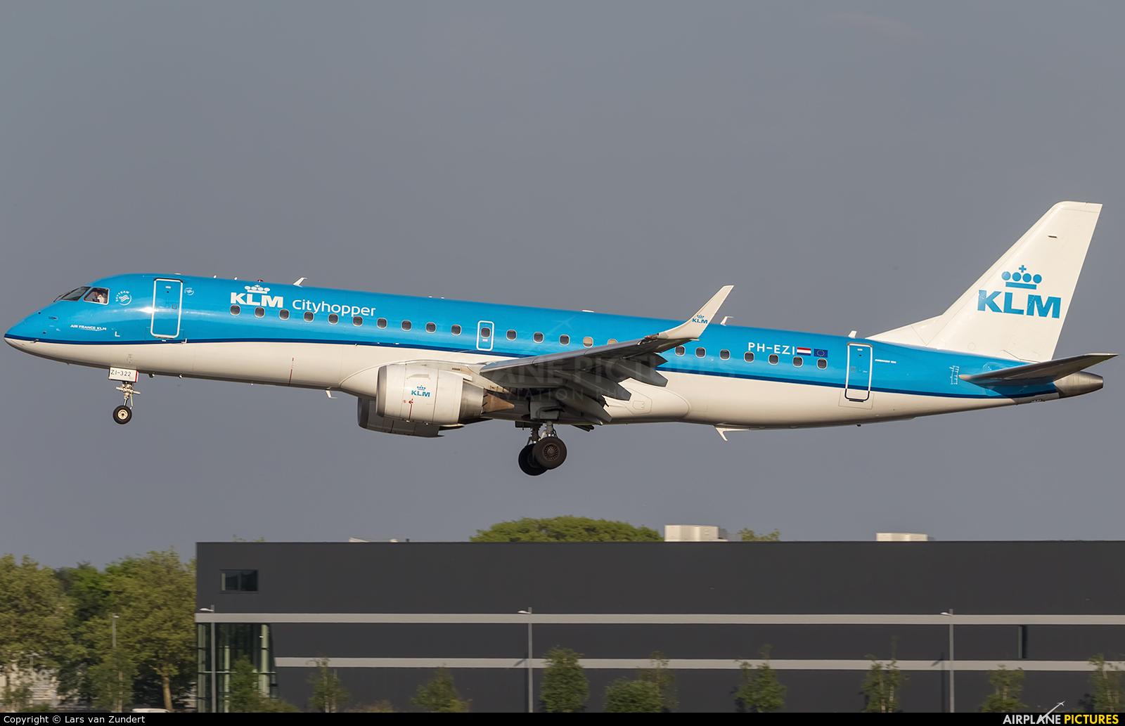 KLM PH-EZI aircraft at Amsterdam - Schiphol