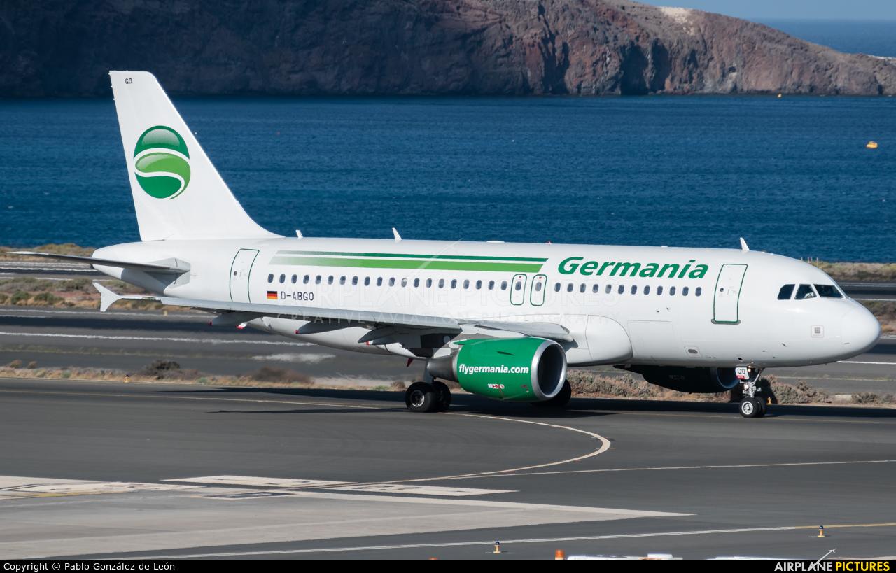 Germania D-ABGO aircraft at Aeropuerto de Gran Canaria