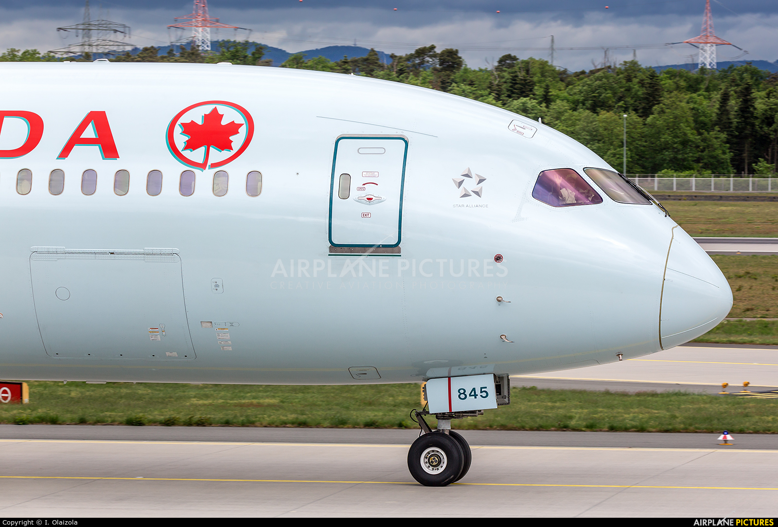Air Canada C-FRSE aircraft at Frankfurt