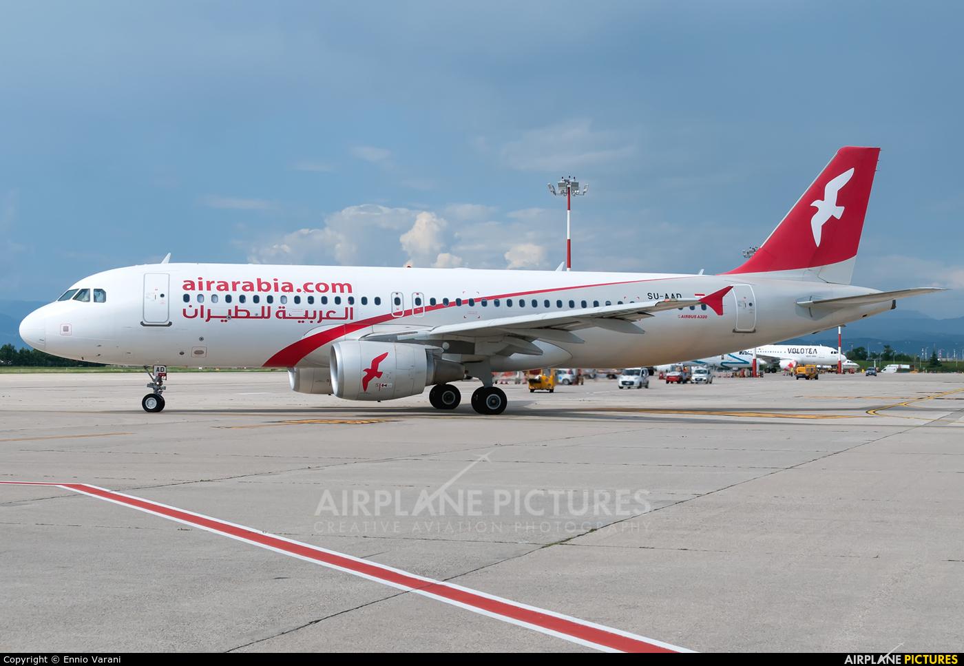 Air Arabia (Egypt) SU-AAD aircraft at Verona - Villafranca
