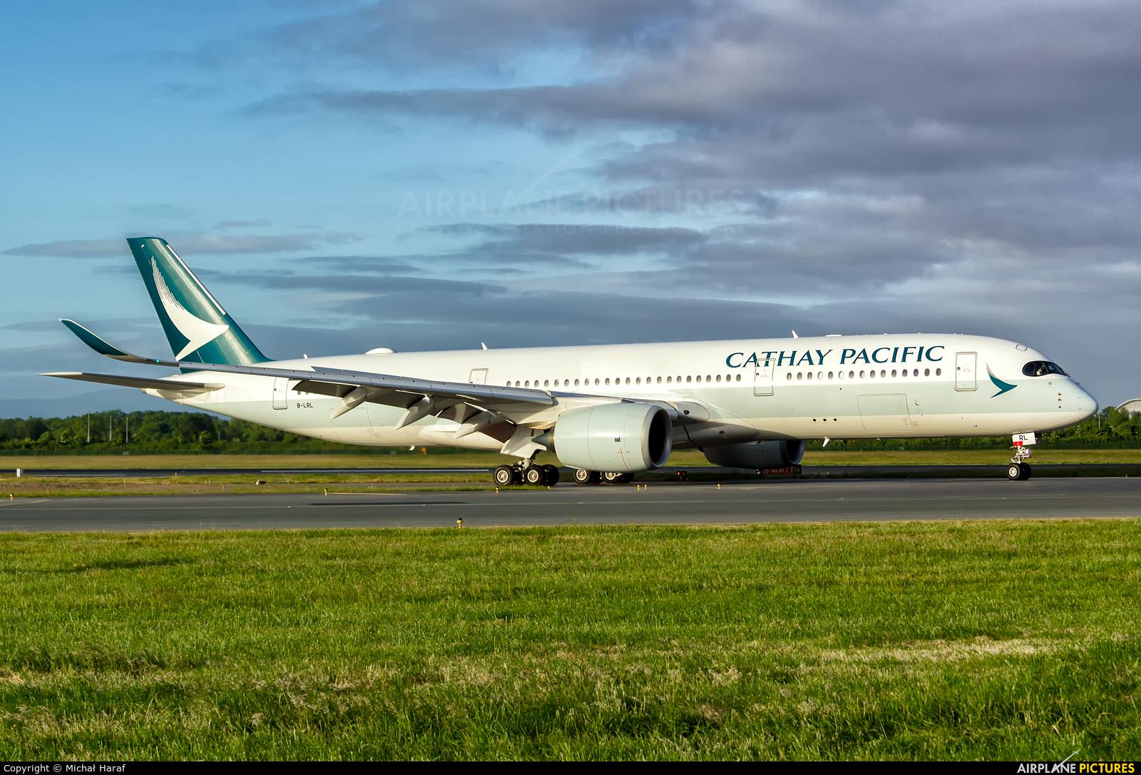Cathay Pacific B-LRL aircraft at Dublin
