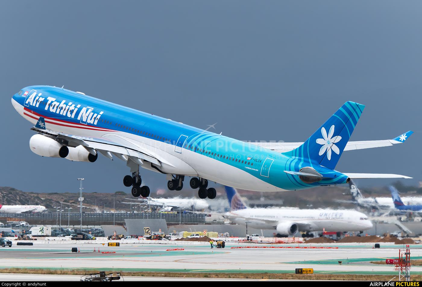 Air Tahiti Nui F-OLOV aircraft at Los Angeles Intl